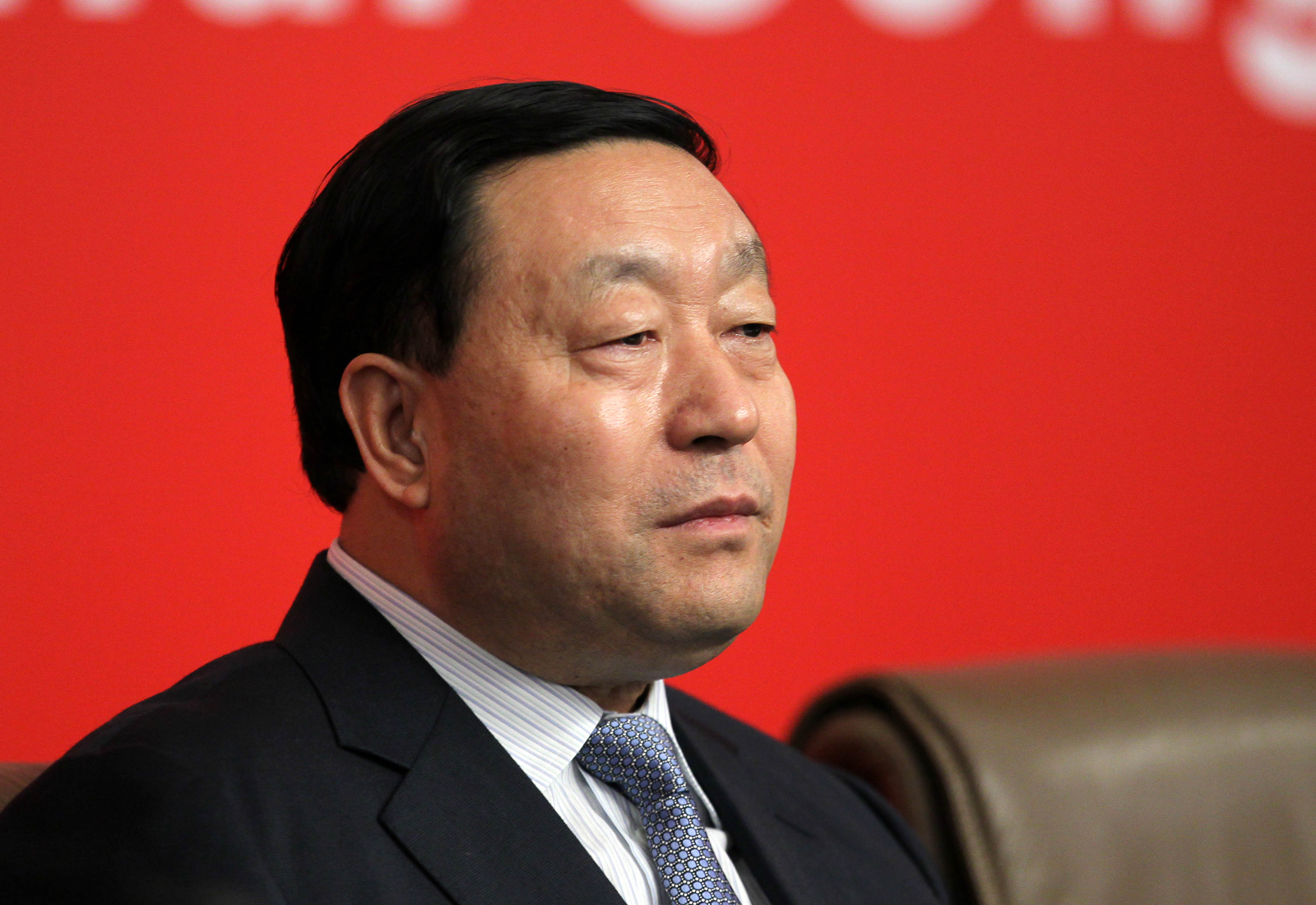 Liu Zhenya, entonces presidente de la State Grid Corporation of China, en una conferencia de prensa en Beijing en 2012.