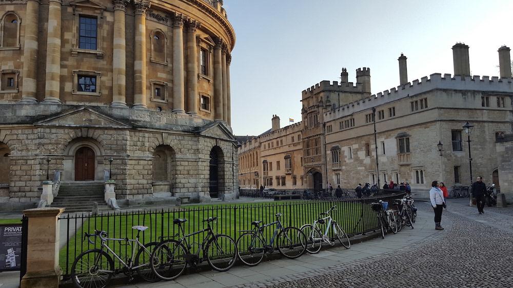 Una imagen original del Colegio Brasenose de la Universidad de Oxford.