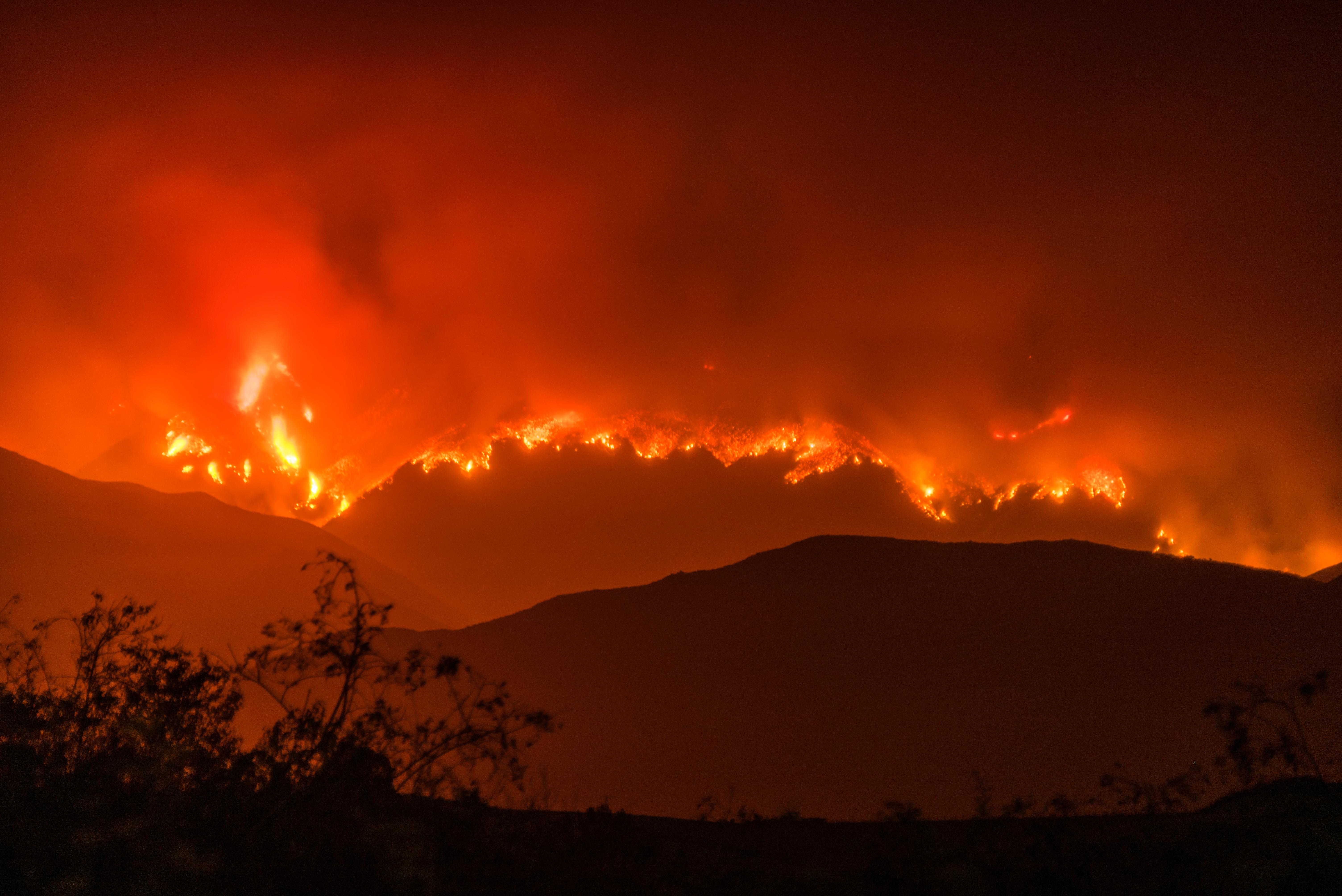 El incendio de Whittier quemó casi 20,000 acres en el condado de Santa Bárbara, California, el verano pasado.
