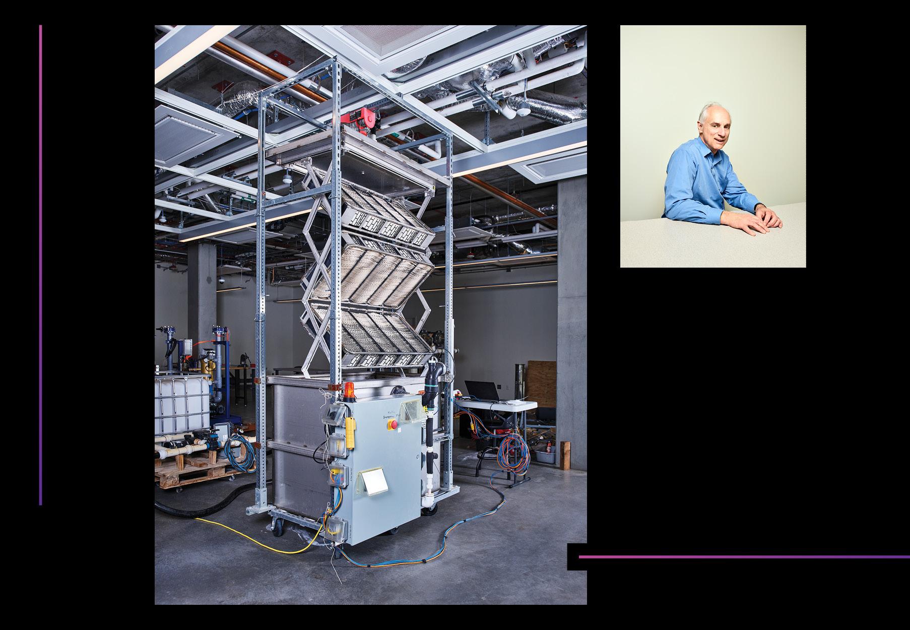 El último prototipo se despliega para agarrar el carbono del aire. Klaus Lackner fue pionero en el campo de la captura de aire directo.