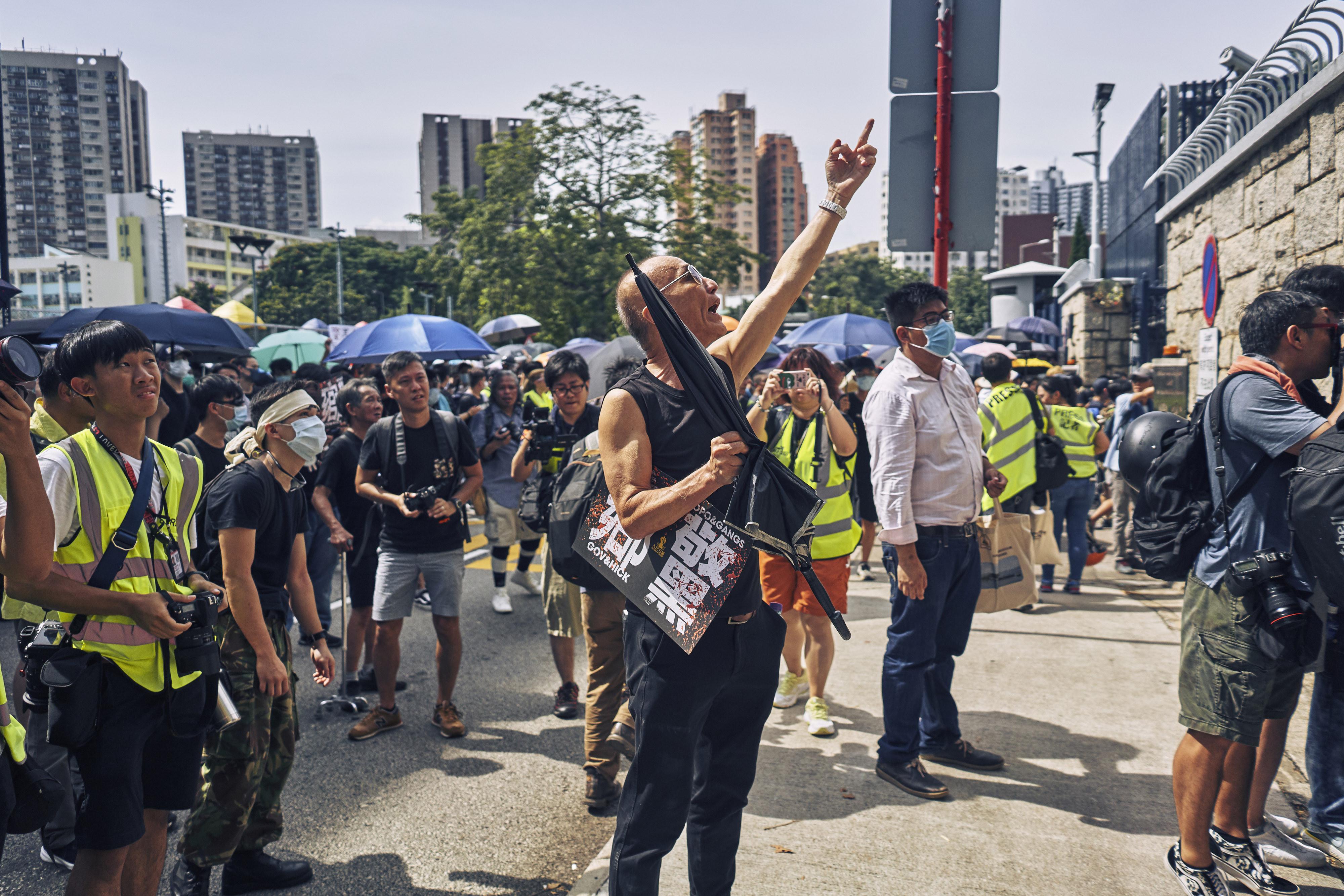 Acción en vivo: los manifestantes están utilizando mapas en tiempo real, con información enviada por voluntarios, para rastrear la actividad dentro de las grandes manifestaciones.