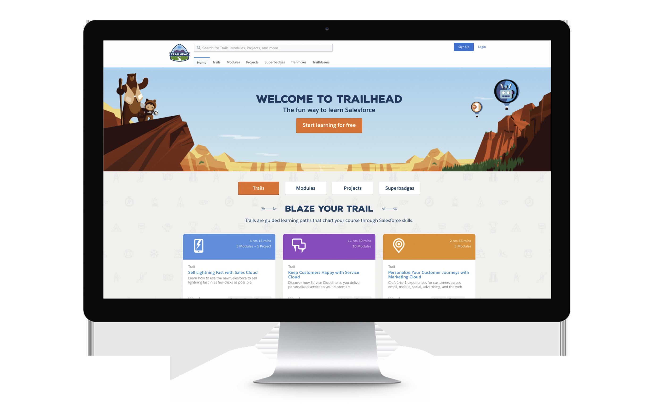 Las empresas podrán personalizar el contenido ofrecido en sus versiones de la plataforma de software Trailhead.