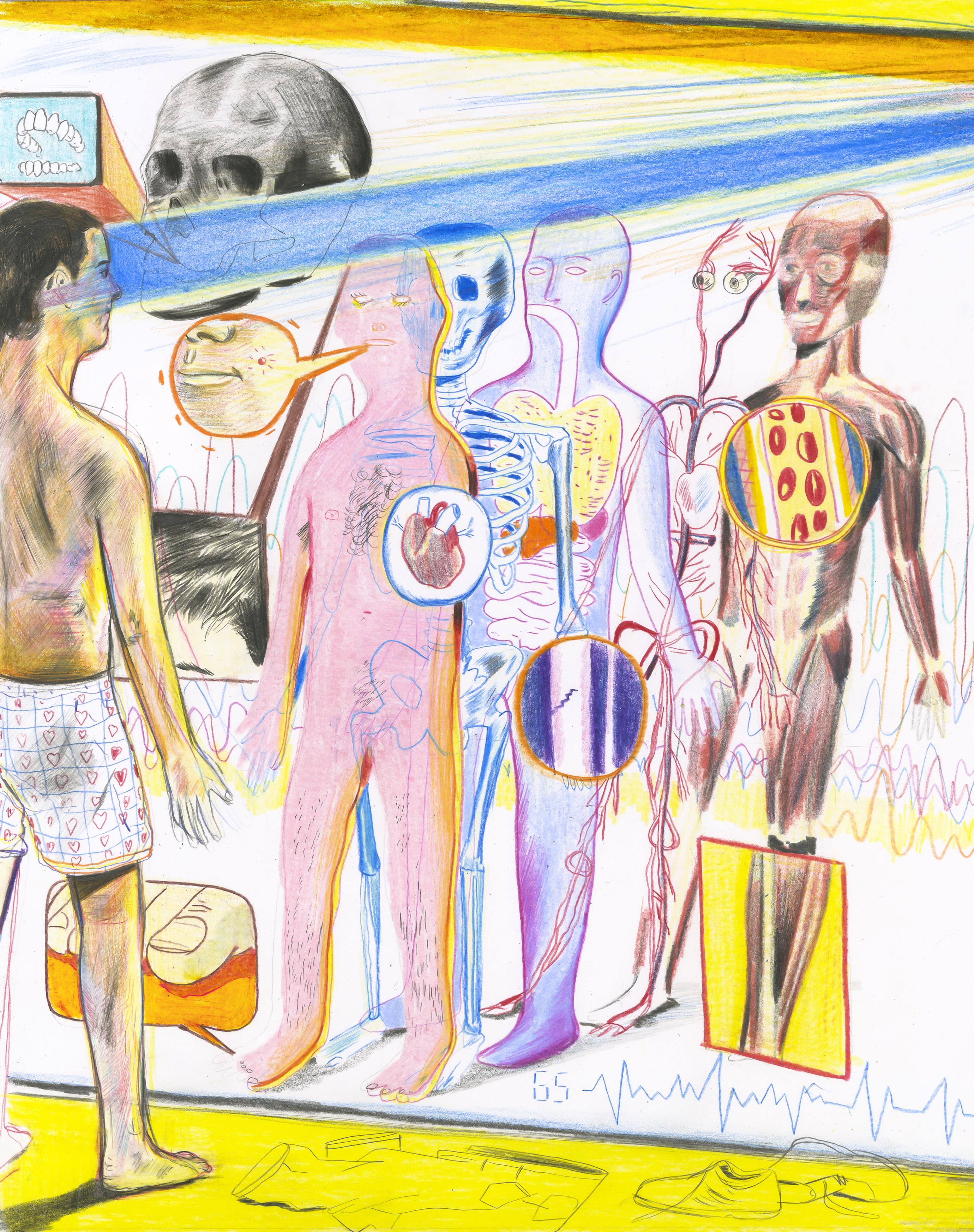 "<b> <a href=""https://www.technologyreview.com/s/608987/how-ai-will-keep-you-healthy/""> ¿Puedo mantenerlo saludable? </a> </ b> Ilustración de Yann Kebbi"