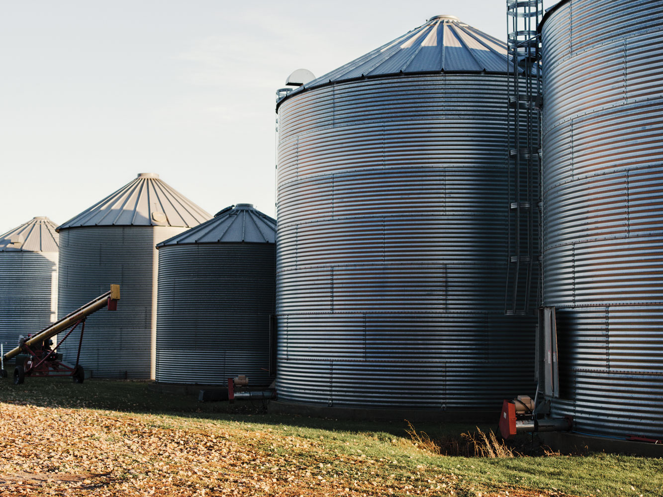 Contenedores de granos en Clark, Dakota del Sur.