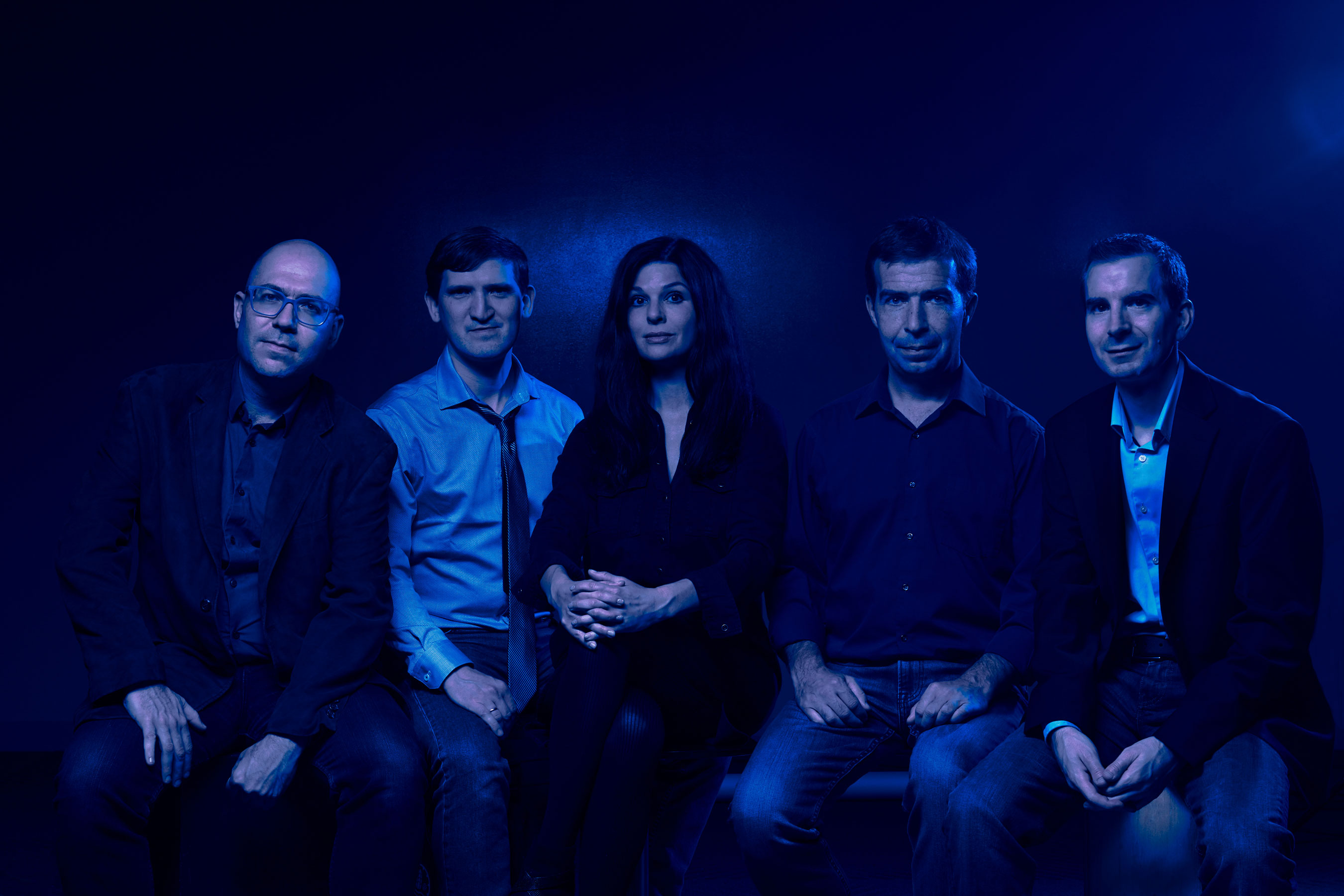 Los fundadores de Kebotix: Alán Aspuru-Guzik, Dennis Sheberla, Jill Becker, Semion Saikin y Christoph Kreisbeck.