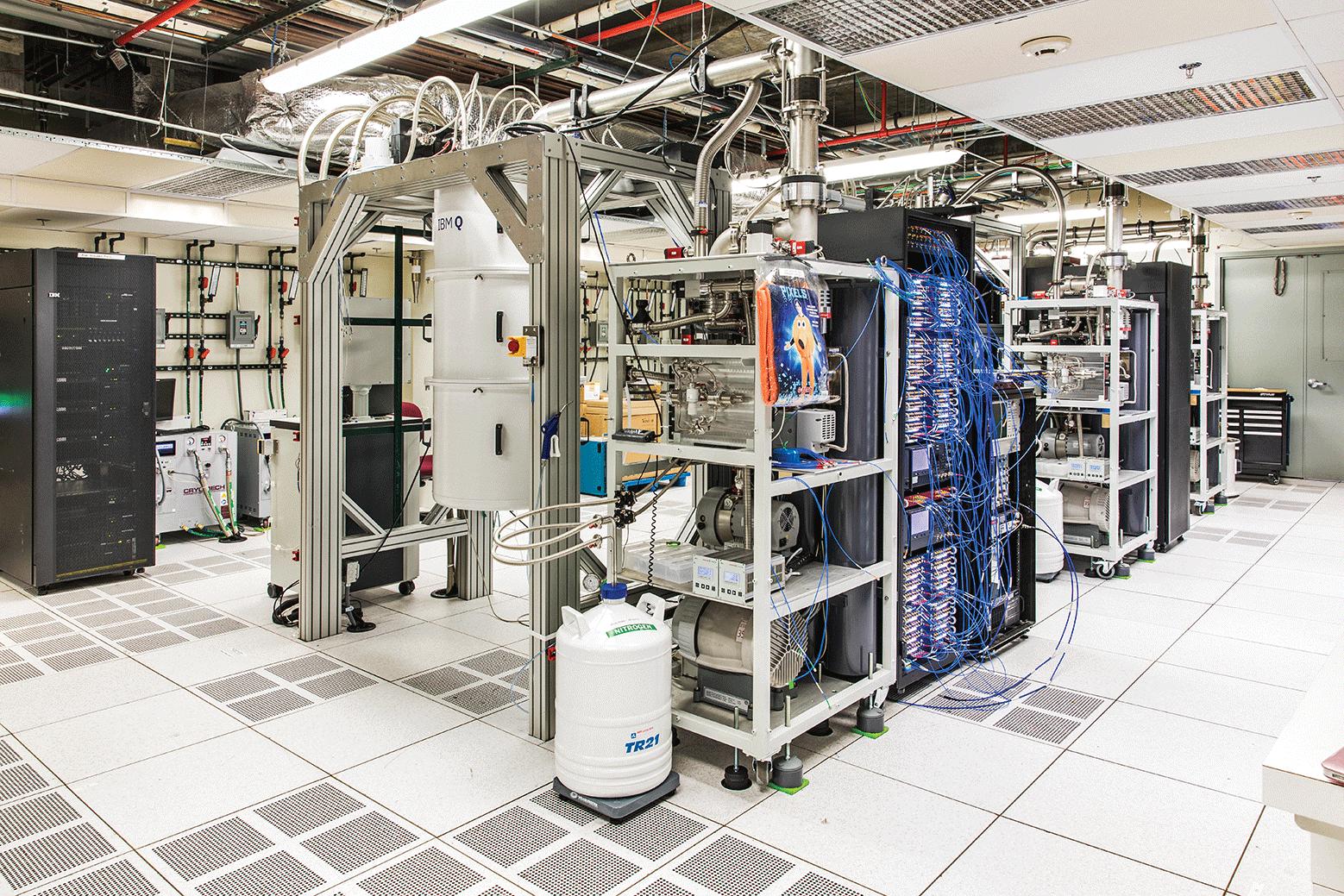 Este laboratorio en IBM alberga máquinas cuánticas conectadas a la nube.