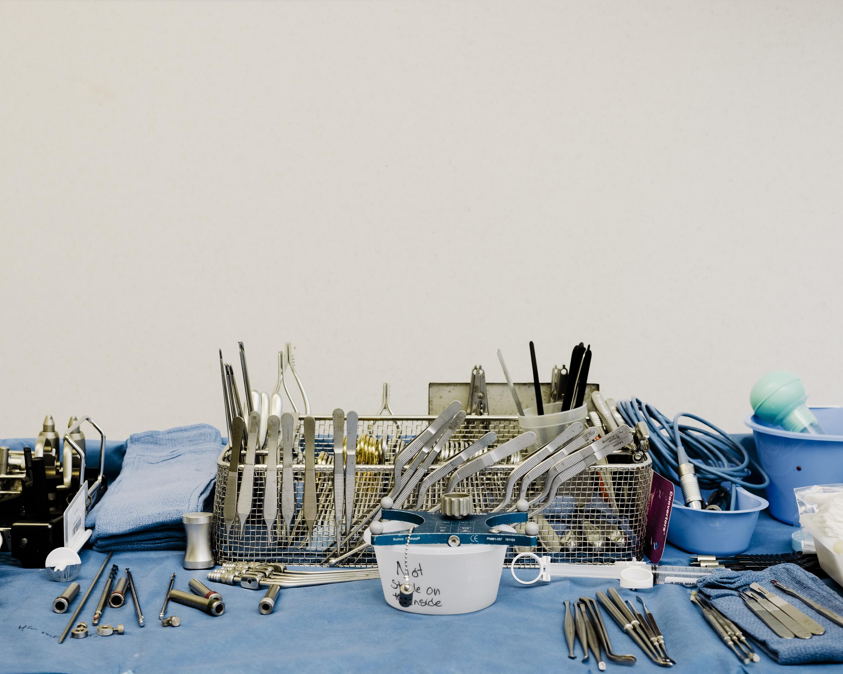Las herramientas quirúrgicas de Leuthardt.
