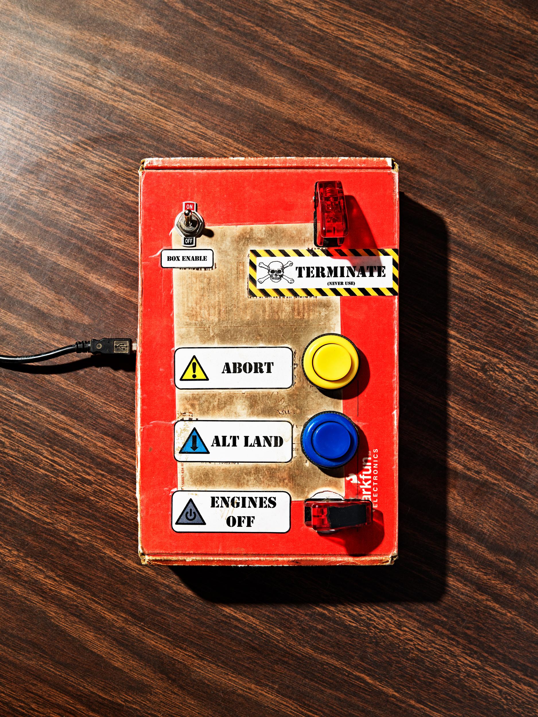 La caja de control en vuelo Masten