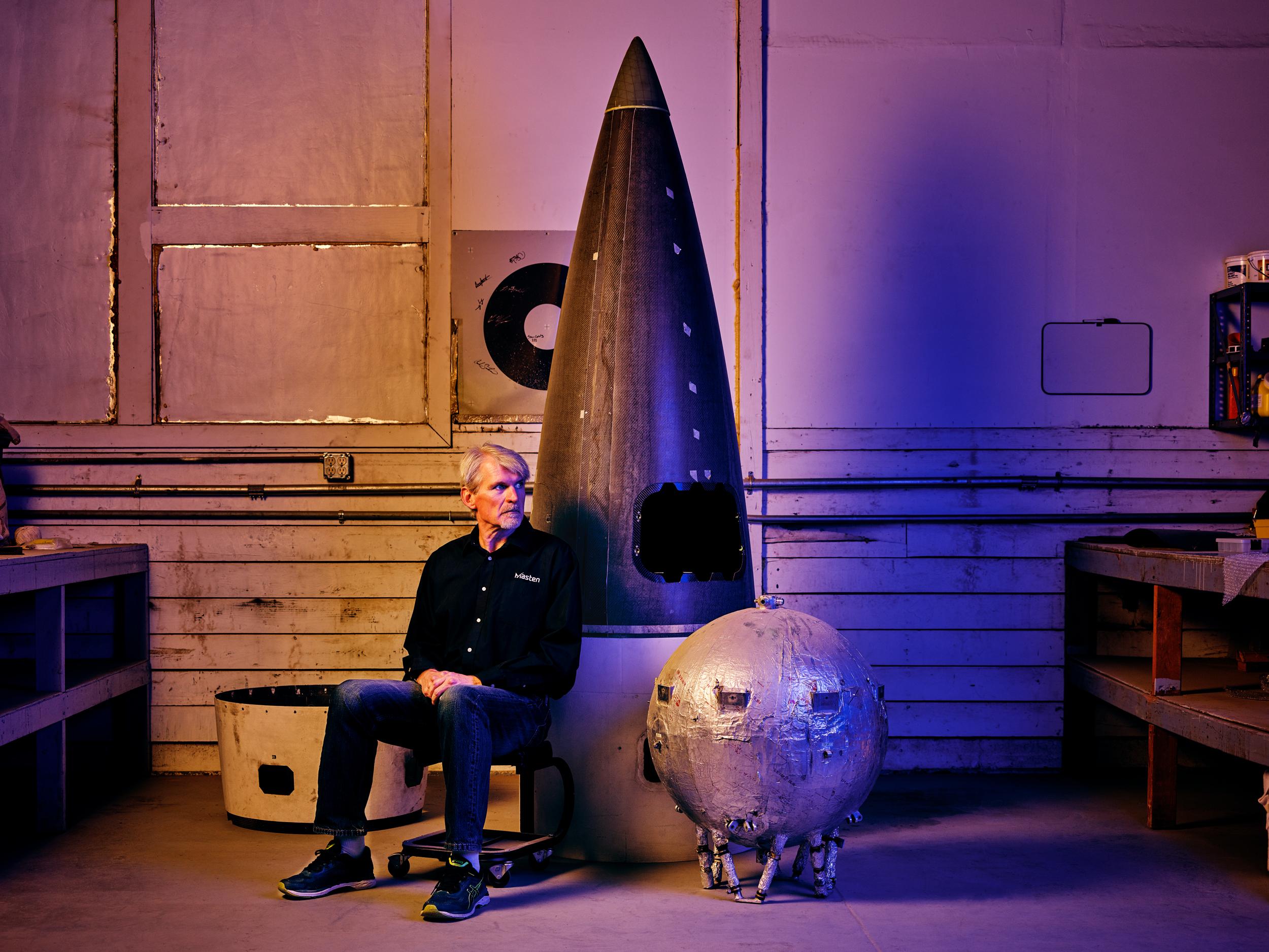 Dave Masten, fundador y CTO de Masten Space Systems
