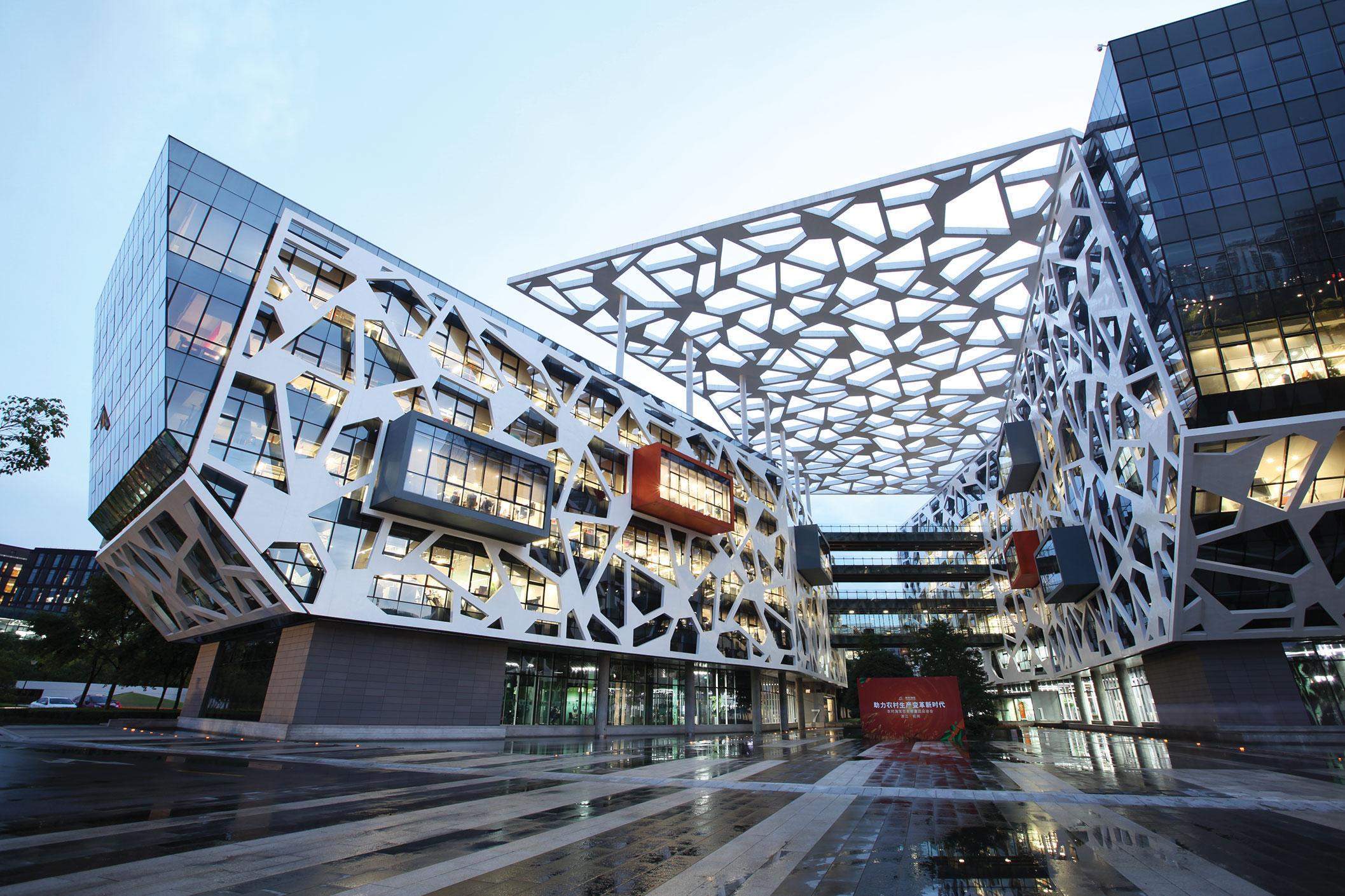 La sede del gigante chino de comercio electrónico Alibaba está en Hangzhou.