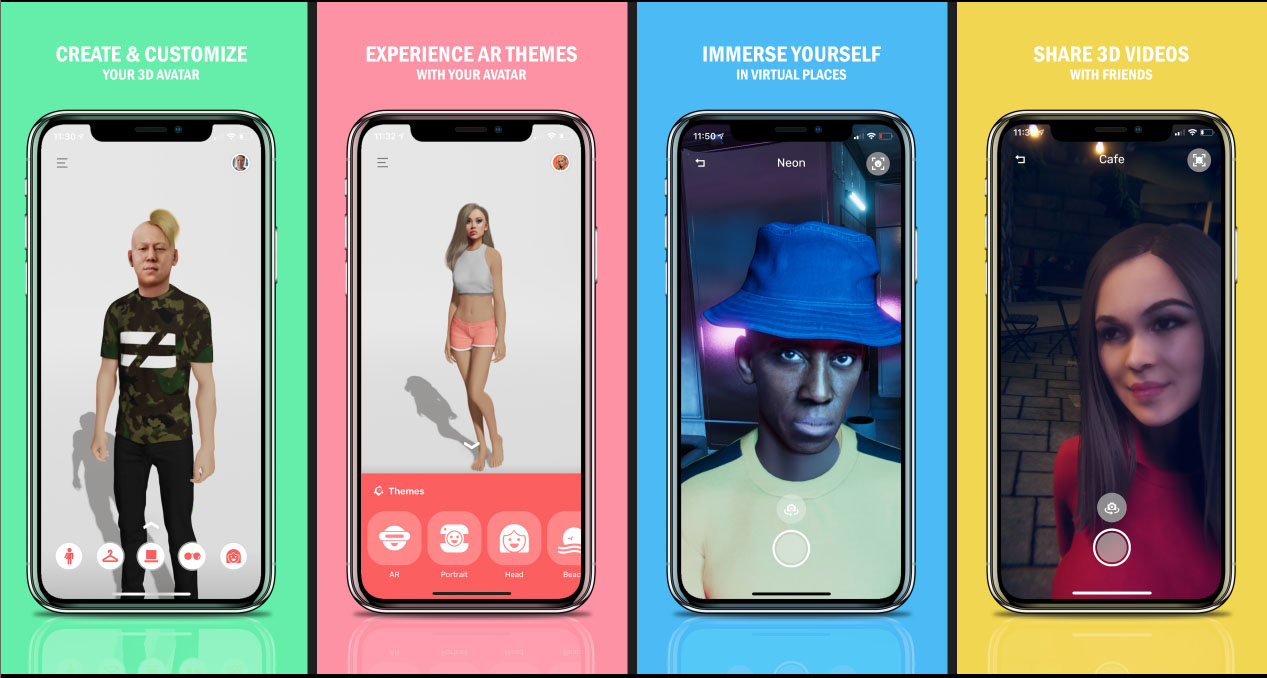 Avatares creados con la aplicación Pin Screen.