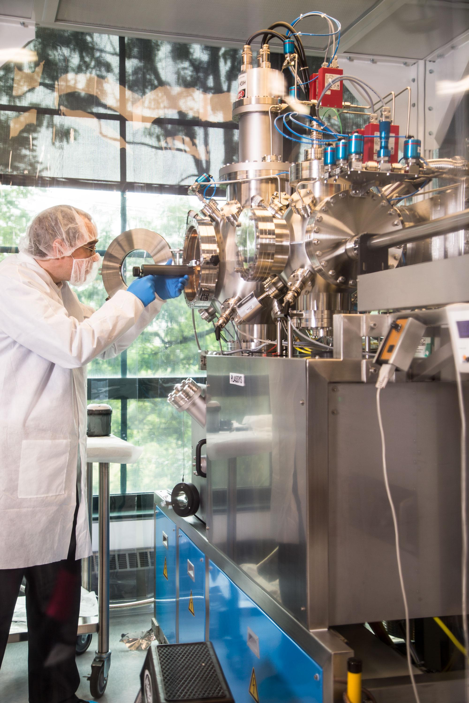 Un sistema de vacío utilizado para crear circuitos superconductores.