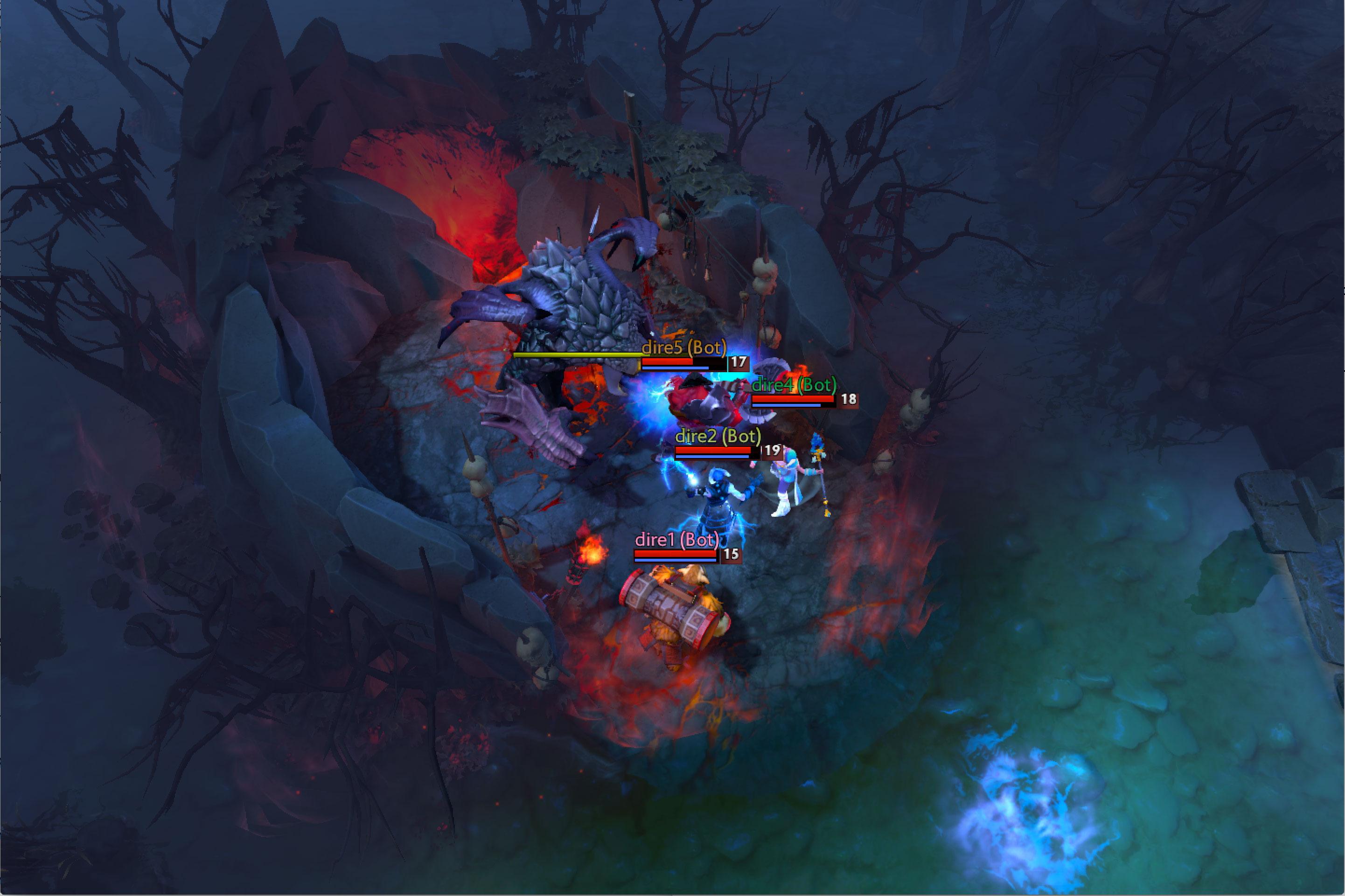 Cinco algoritmos trabajan juntos para burlar a cinco humanos en el videojuego Dota 2 basado en el campo de batalla.