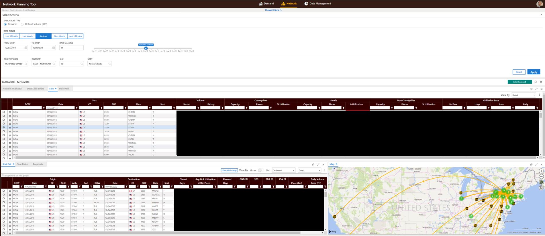 Esta función de la aplicación NPT muestra cuántos paquetes deben ordenarse en UPS
