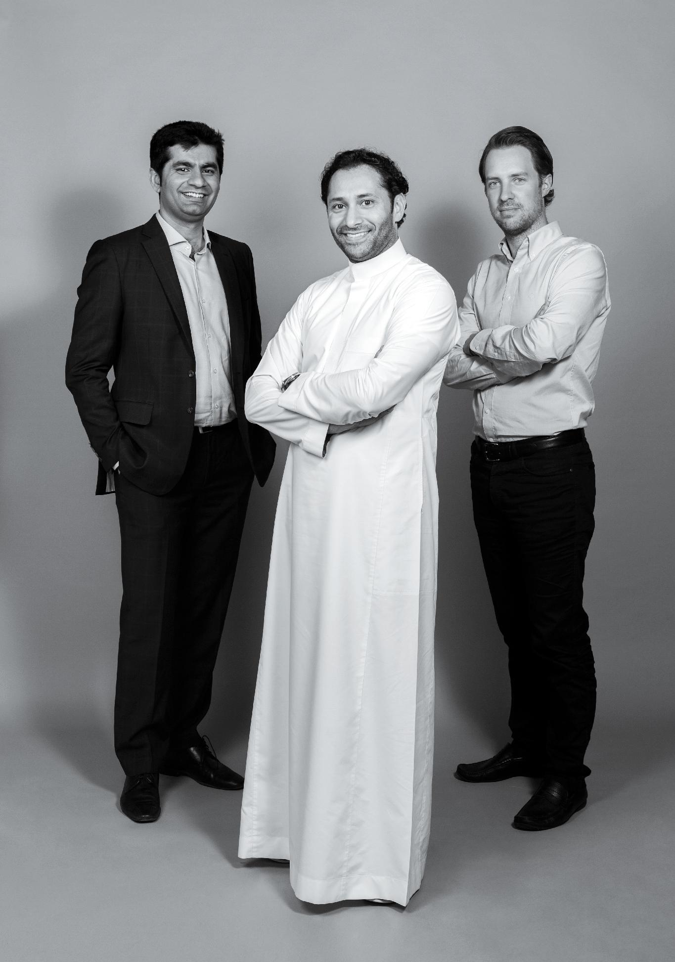 Los cofundadores de Careem Mudassir Sheikha (izquierda), Abdulla Elyas (centro) y Magnus Olsson (derecha).
