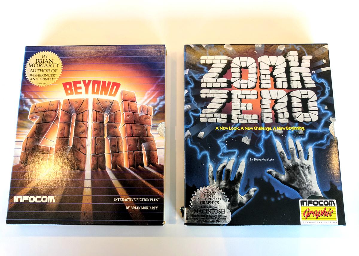 La popularidad de Zork comenzó a disminuir en pocos años, sin embargo, e Infocom se encontró con problemas financieros. En febrero de 1986, la empresa se fusionó con la editora de videojuegos Activision, aunque siguió publicando secuelas de Zork, incluyendo Beyond Zork en 1987 y Zork Zero en 1988. Hoy en día, las versiones no oficiales de Zork están disfrutando de un renacimiento en línea, Y en dispositivos como Amazon's Echo.