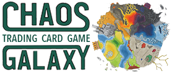 Choas Galaxy TCG Set 1: The Origin of Chaos - Booster Pack Logo