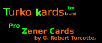 Three sets of Pro Zener Cards tm Turko Kards Brand tm Logo