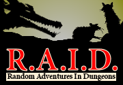 Ad for R.A.I.D. Random Adventures In Dungeons