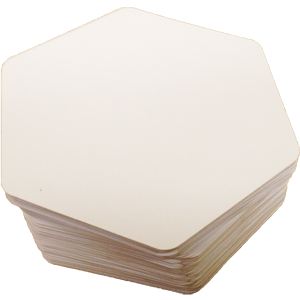 Photo of Blank Hex Cards
