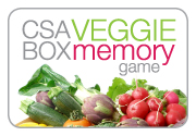 Ad for CSA Box Veggie Memory Game