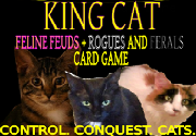 Ad for King Cat: Feline Feuds + Rogues and Ferals