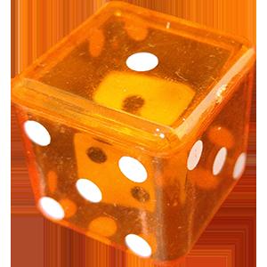 D6 Dice In Dice Orange