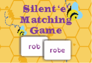 Ad for Silent 'e' Matching Game