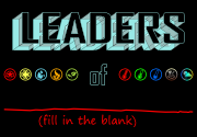 Ad for Leaders of ________