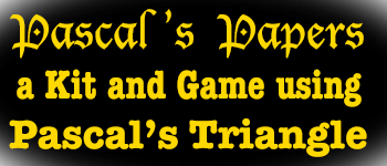 Pascal's Papers - a Binomial Triangle Game and Puzzle Logo