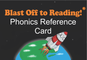 Ad for Blast Off to Reading Phonics Reference Card