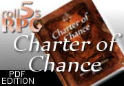 Ad for roll5s RPG: Charter of Chance  [PDF]
