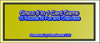 Greco 8 to 1 Card Game Logo