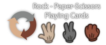 Rock-Paper-Scissors Playing Cards Logo