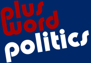 Ad for Plus Word Politics