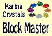Ad for Karma Crystals - Block Master