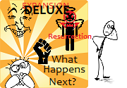 Ad for What Happens Next? Deluxe! Fun verbal RPG anyone can play!