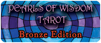 Bronze Edition Jumbo Size Pearls Of Wisdom Tarot Logo