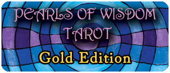 Gold Edition Jumbo Size Pearls of Wisdom Tarot Logo