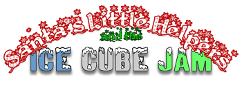 Santa's Little Helpers and the Ice Cube Jam Logo