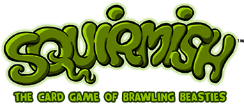 SQUIRMISH: The Beast Battling Card Game: Deluxe Edition Logo