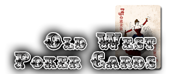 Old West Poker Cards Logo