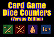 Ad for Card Game Dice Counters (Versus Edition)