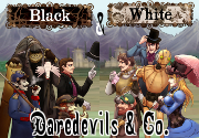 Ad for Daredevils & Co - Black & White