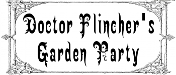 Dr. Flincher's Garden Party Logo