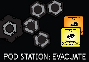 Ad for Pod Station: Evacuate