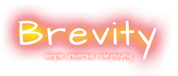 Brevity: simple universal roleplaying Logo