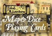 Ad for Inked Adventures Map&Dice Bridge Deck