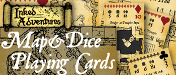 Inked Adventures Map&Dice Bridge Deck Logo