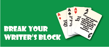Break Your Writer's Block Cards Logo